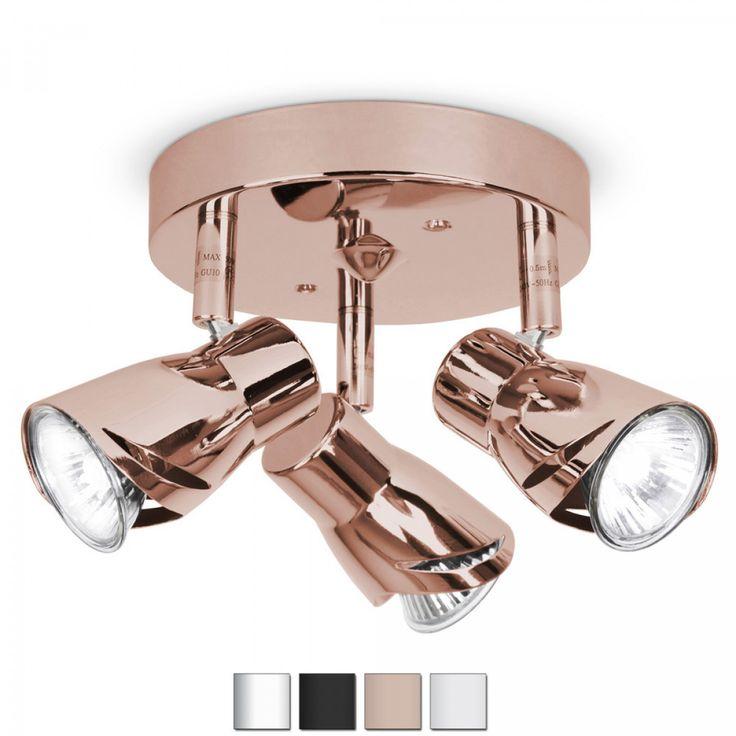Modern Adjustable 3 Way Ceiling Spotlight