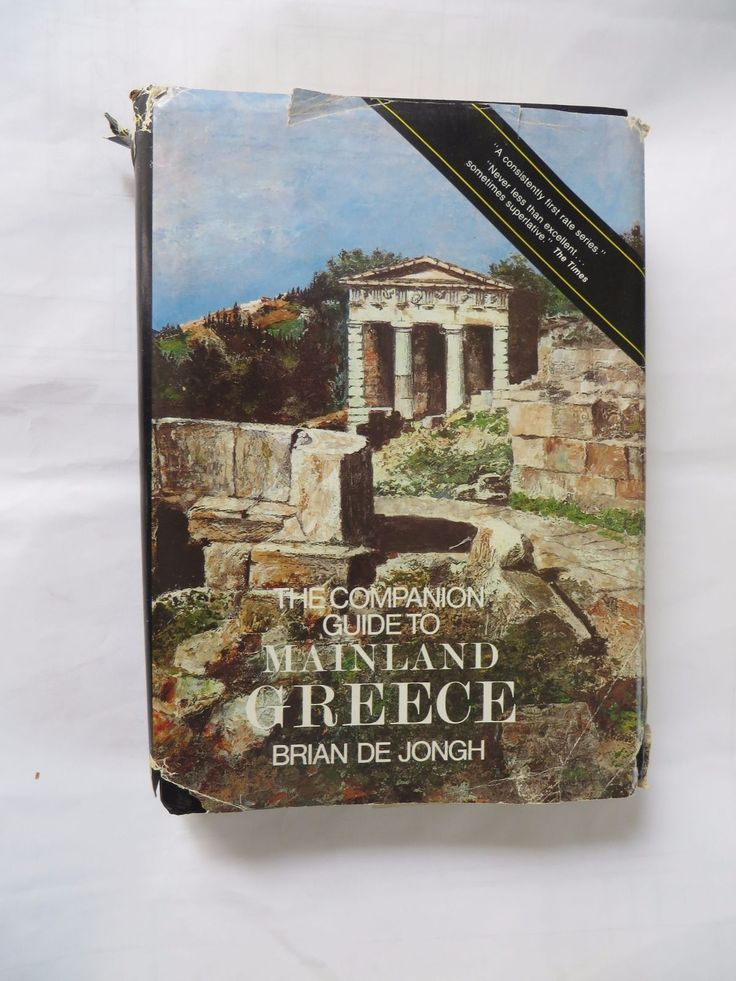 The Companion Guide to Mainland Greece B de Jongh 1983 Athens Delphi Macedonia | eBay