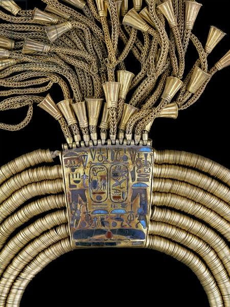 Gold Necklace of Psusennes I (detail), Dynasty XXI, 3rd Intermediate period, Tanis.