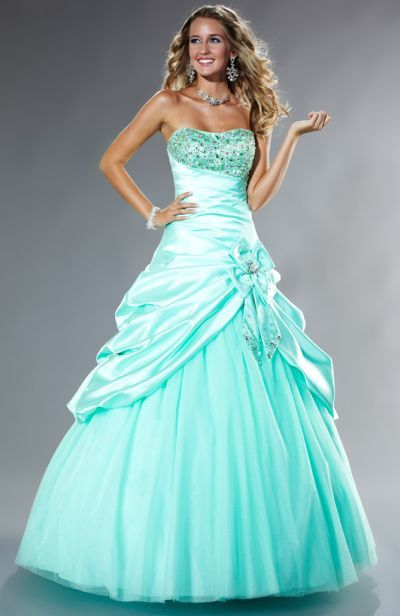 @Alise RayAnn  LOVE this!!!! Tiffany Designs Presentation Satin Pickup Ball Gown Prom Dress 16845 So beautiful!