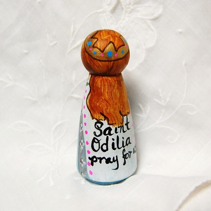 St Odilia Catholic Saint Doll - Wooden Toy - Made to Order. $28.00, via Etsy.