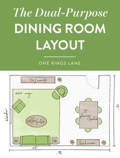Have a small space? Opt for an open multipurpose living/dining plan with a versatile table and chairs to match. Your dining area can then easily be used as a work space or a serving place for appetizers as well. Click here for more helpful dining room layout guides!