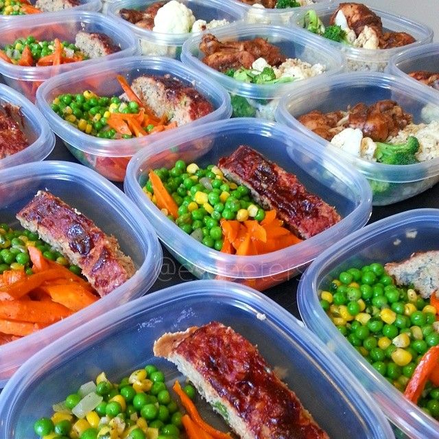 Lunch: -BBQ baked chicken -Brown rice with peppers and green onions -Steamed cauliflower and broccoli Dinner: -Turkey meatloaf -Green peas and corn with cilantro -Honey roasted carrots