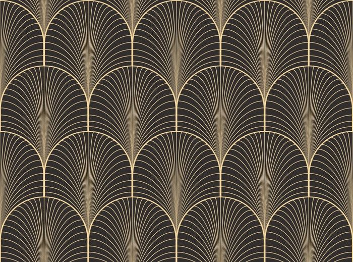 Vintage Antique Palette Seamless Art Deco Wallpaper
