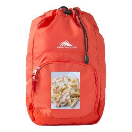 Pasta Custom Food Photo High Sierra Backpack - pattern sample design template diy cyo customize