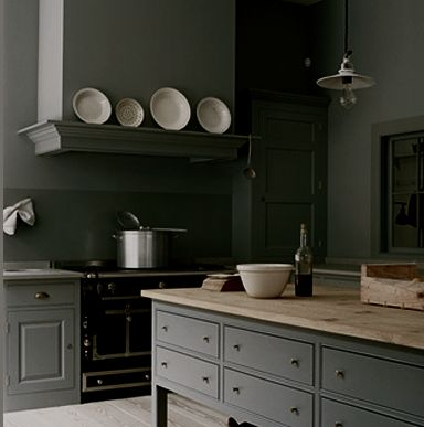 Plain English kitchen.  Perfect except the paint colour is a bit too dark.