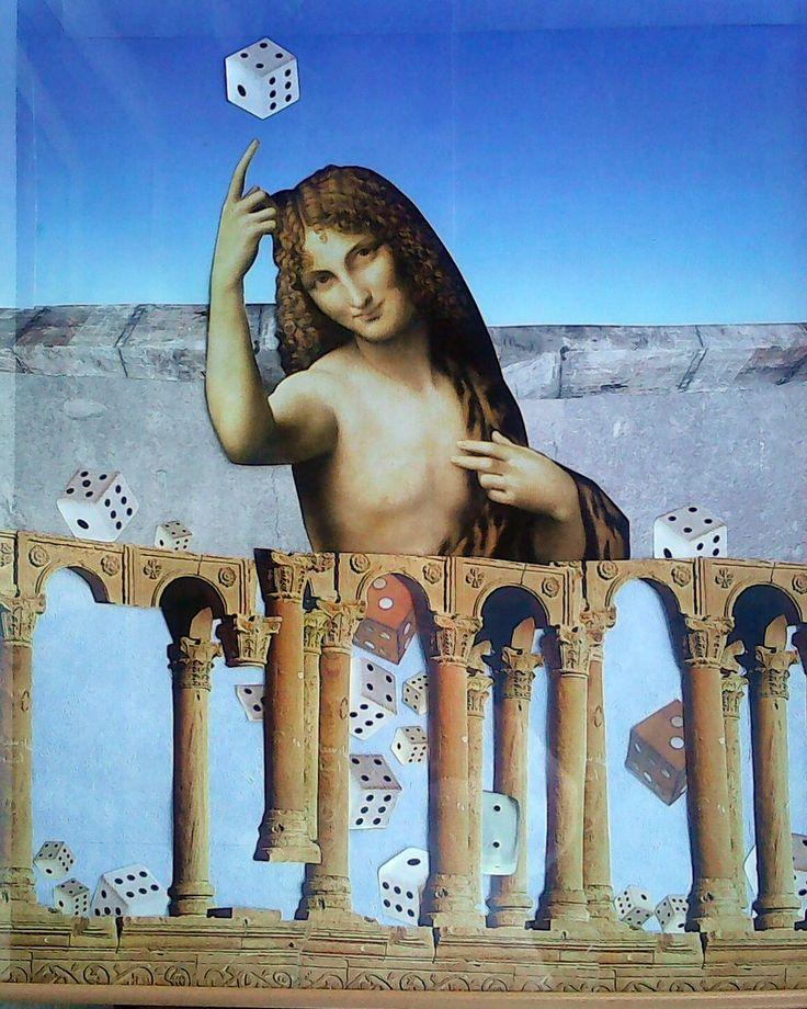 Alea iacta est ? koláž 60 x 80 cm by Jana Černochová