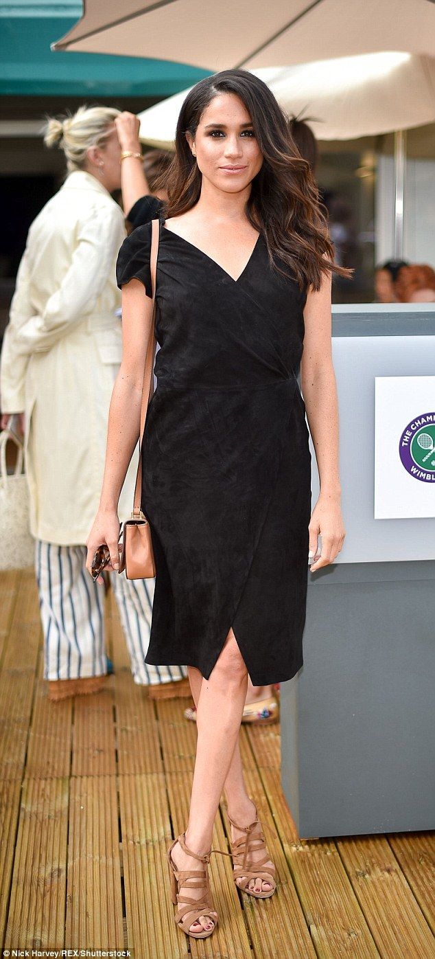 Model and actress Meghan Markle of Suits fame rocked a little black dress...