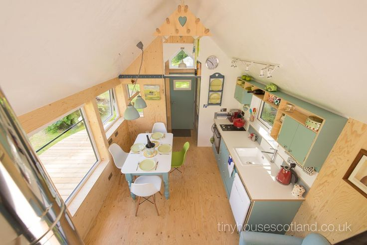 Tiny House Interior - NestHouse by Tiny House ScotlandI like how big this feels!