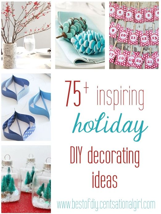 holiday DIY decorating ideas - for when life calms down...