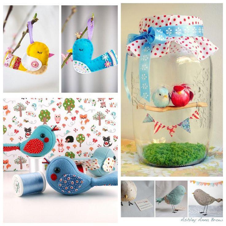 Aujourd'hui, je vous présente de jolis petits oiseaux trouvés sur Pinterest (et oui, encore !!!) Ils sont là pour faire s'envoler ma 33ème année et faire v