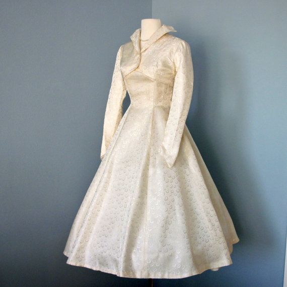 Reserved for mckenzie 1950s tea length wedding dress for Etsy tea length wedding dress