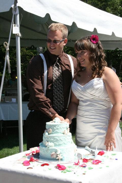 Our Ocean/Beach Wedding Cake!