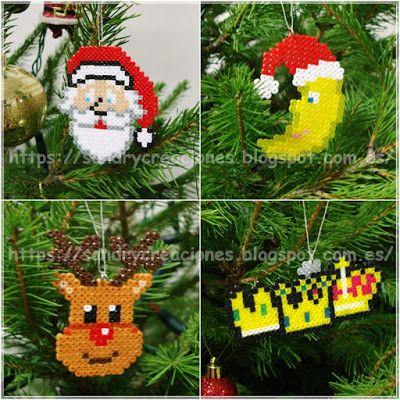 SanDryCreaciones: Adornos para el Árbol de Navidad en Hama Beads Mini