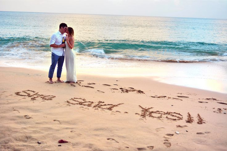 @Weddingmoons St. Lucia was the dream location for this surprise beach proposal!
