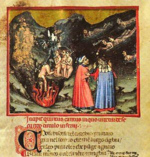 Paolo e Francesca - with Dante and Virgilio nell'Inferno