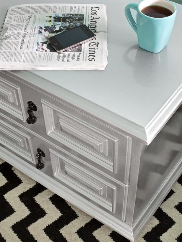 How to Transform Furniture With Creative Paint Applications  Automotive  paints applied to wood and metal furniture result in glossy  sparkly  factory. Best 25  Spray paint dresser ideas on Pinterest   How to paint