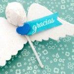 Baptism favor - angel lollipop!