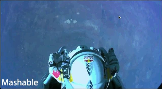 Felix Baumgartner successfully jumped from 127,900 feet Sunday — breaking the record for the highest altitude skydive in the process.