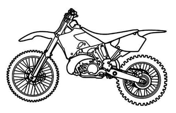 dirt bike coloring page # 0