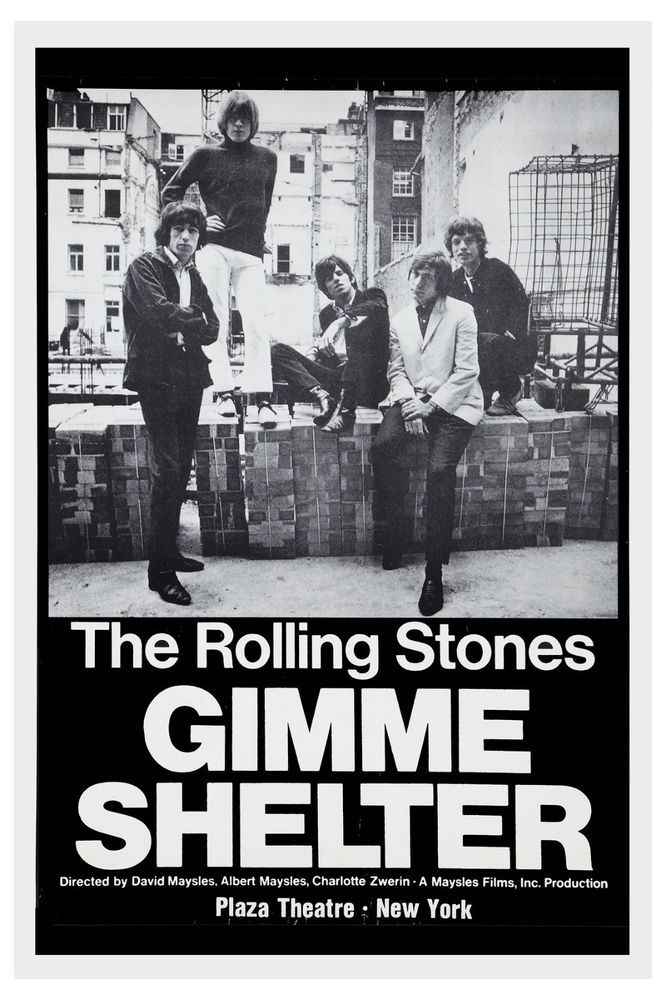 The Rolling Stones Gimme Shelter New York Movie Poster 1970 Large Format 24x36