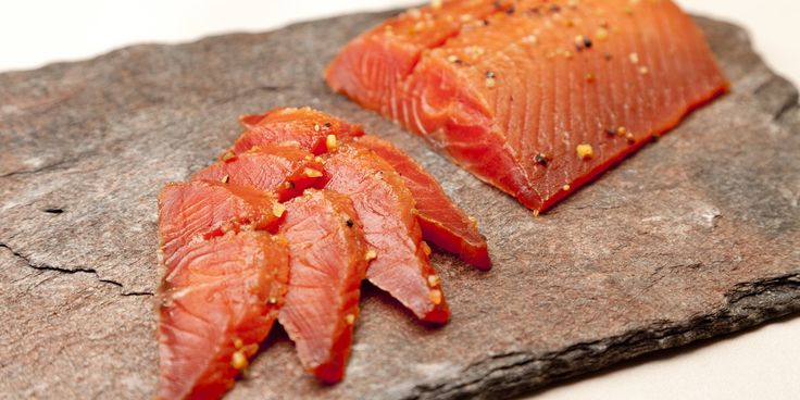 The sweet earthiness of maple syrup works fantastically with cured Alaska salmon in Pascal Aussignac's divine recipe