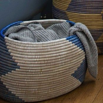 woven west african storage basket - perfect for living room blanket storage.
