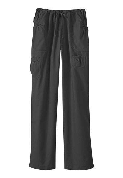 White Cross cargo scrub pants.