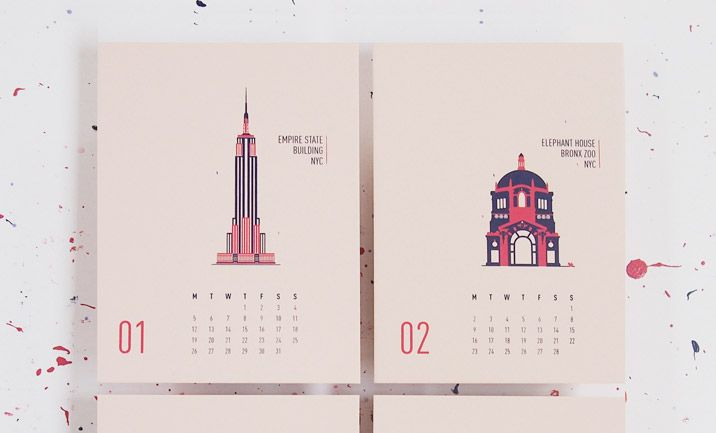 30 Creative 2015 Calendar Designs - CSS Design Awards