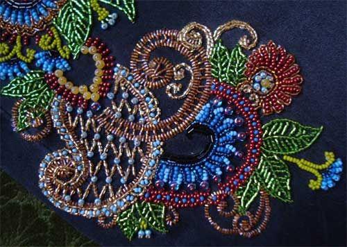 Вышивка бисером на одежде - этапы