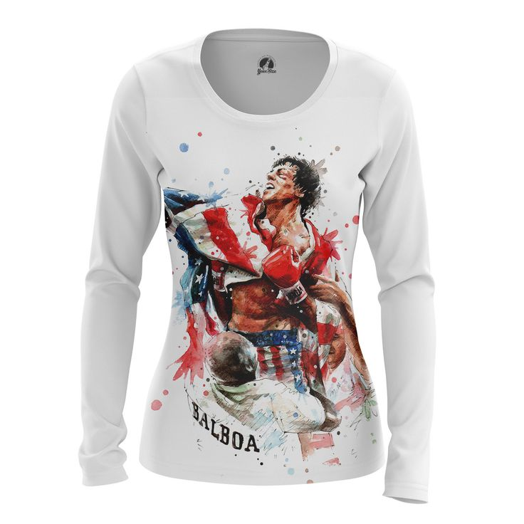 awesome Girls Longsleeve Rocky Balboa Movie Merchandise Collectibles