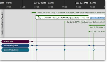 Aeon Timeline can sync your timeline data directly with your Scrivener 2 project. http://www.scribblecode.com/