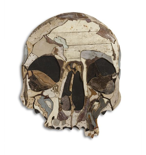 Amazing skull from scraps of wood by diederick kraaijeveld