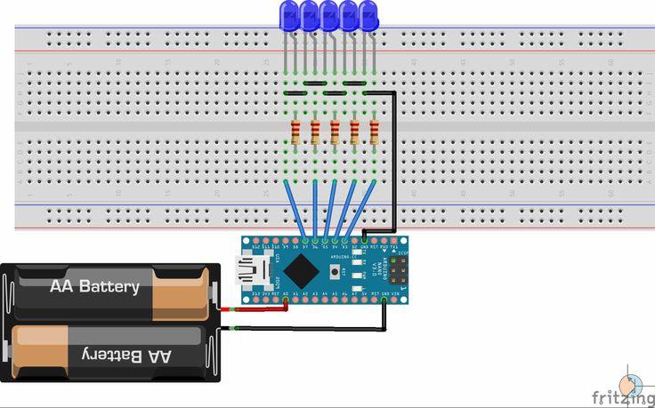 Arduino - tester baterii / Arduino - battery tester