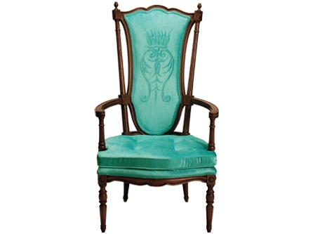 Sir Henry Chair Hollywood Regency Design Ornate Carved Wood Arms Legs Frame
