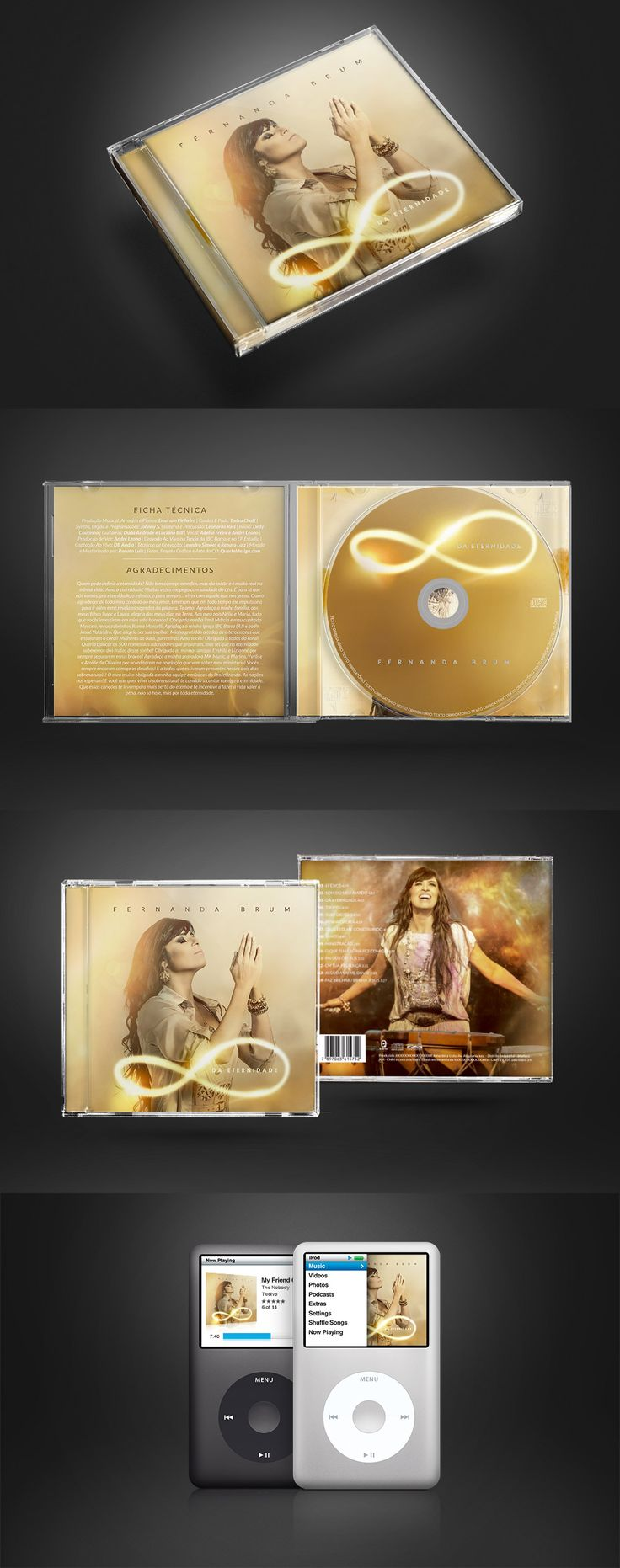 CD da Eternidade - Fernanda Brum - Quartel Design - Quartel Design