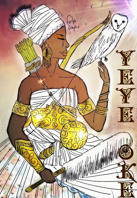 OSUN YEYE OKÊ. Esta é uma das mais raras qualidades de Osun, se trata de uma divindade Okiti-Efan ( Okiti-Efan também pronúncia Ekit...
