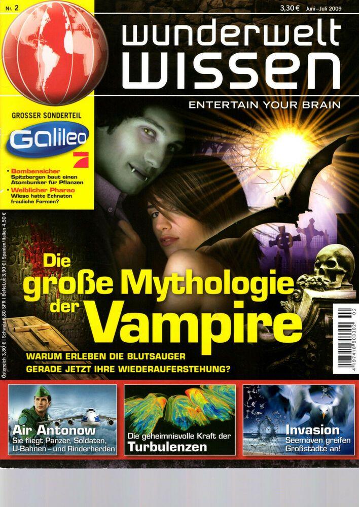 Wunderwelt Wissen Ausgabe Juni Juli 2009 4197418803302 Zeit Wissen Spektrum Der Wissenschaft Vampire