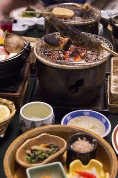 Eating a kaiseki in Gunma, Japan