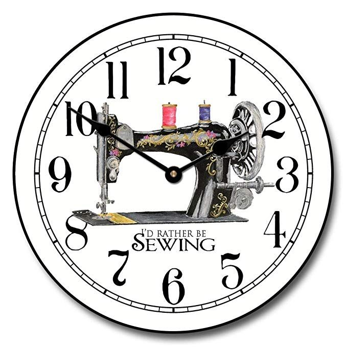 Sewing Room Wall Clock Available In 8 Sizes Most Sizes Ship 2 3 Days Whisper Quiet Review Wall Clock Clock Wall Decor Sewing Room