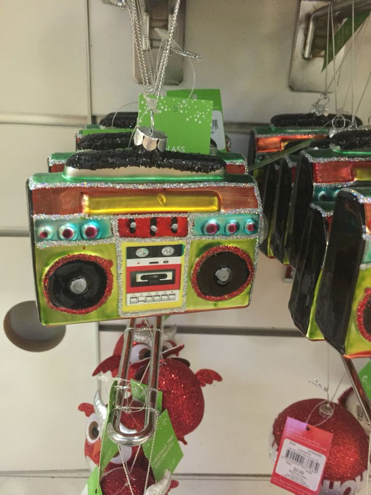 Cool Tape deck Christmas decoration.