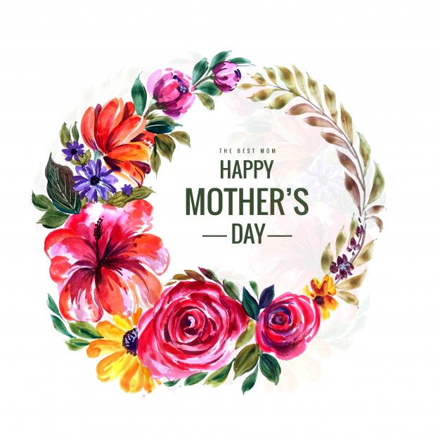 Download Happy Mothers Day Card With Flowers Circular Frame For Free In 2021 Happy Mother S Day Card Happy Mothers Day Happy Mothers Day Banner