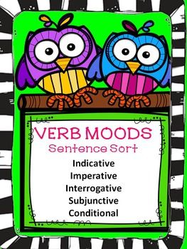 verb moods sentence sort activities small groups and student centered resources. Black Bedroom Furniture Sets. Home Design Ideas