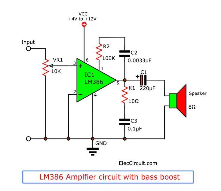 Lm386 Datasheet Low Voltage Audio Power Amplifier Amplifier Audio Datasheet Electronic Lm386 Pow Power Amplifiers Amplifier Electronic Circuit Projects