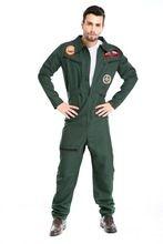 Top Gun Fighter Pilot 80's Maverick Aviator Costume de déguisement(China (Mainland))