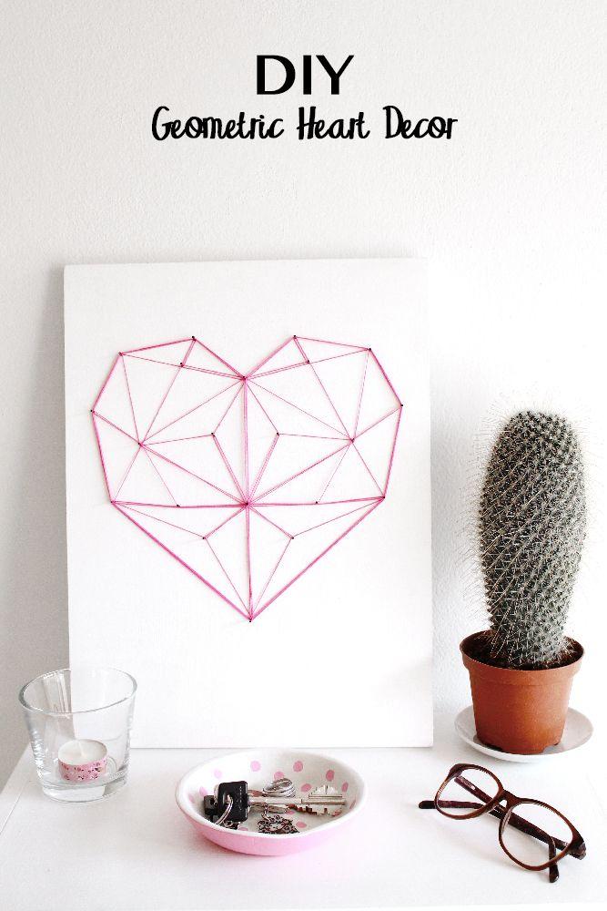 DIY Geometric String (he)art Click for more DIY Ideas