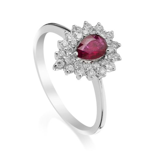 Coriolan - Inel cu rubin si diamante C603