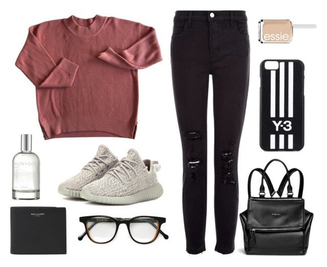 """Yes"" by nicolesyli ❤ liked on Polyvore featuring J Brand, adidas Originals, Givenchy, Cutler and Gross, Yves Saint Laurent, Y-3, (MALIN+GOETZ) and Essie"