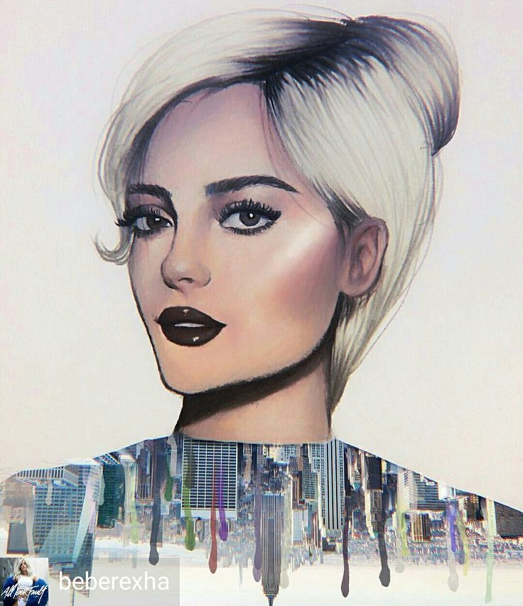 Credit to @beberexha : New York Baby. This drawing made me happy. My heart will always lie in the city that inspired me and created me. (Artist tagged) LPMISSY
