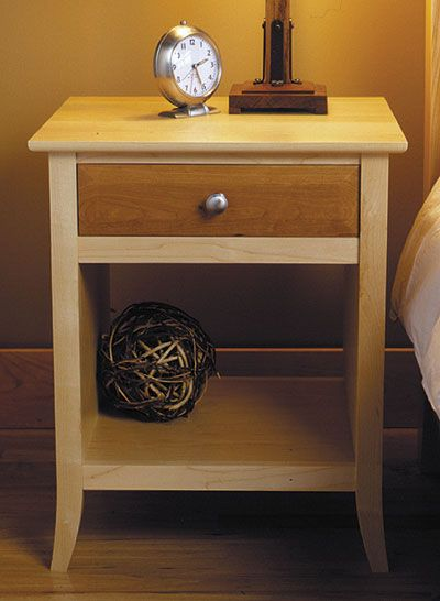 Maple & Cherry Nightstand Woodworking Plan from WOOD Magazine